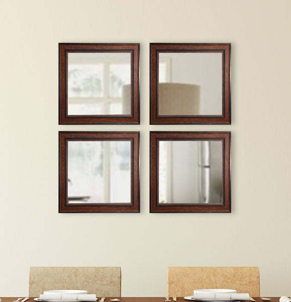 American Made Rayne Country Pine Square Wall Mirror (S027S Set of 4) *Suggested Retail*
