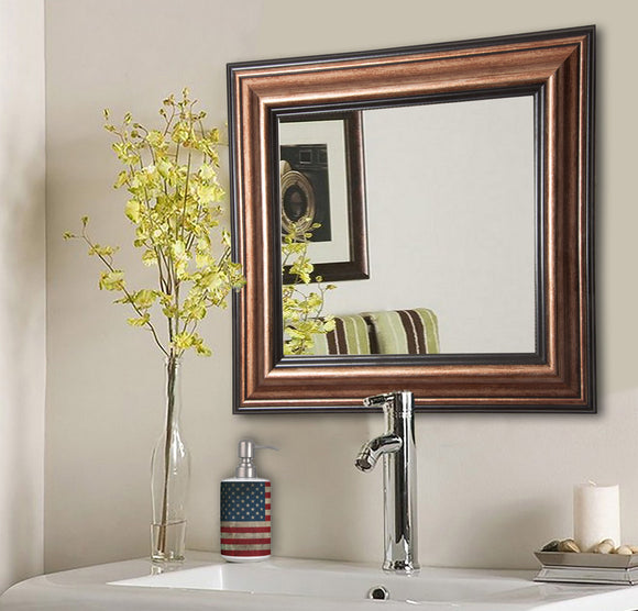 American Made Rayne Canyon Bronze Square Wall Mirror (S029) *Suggested Retail*