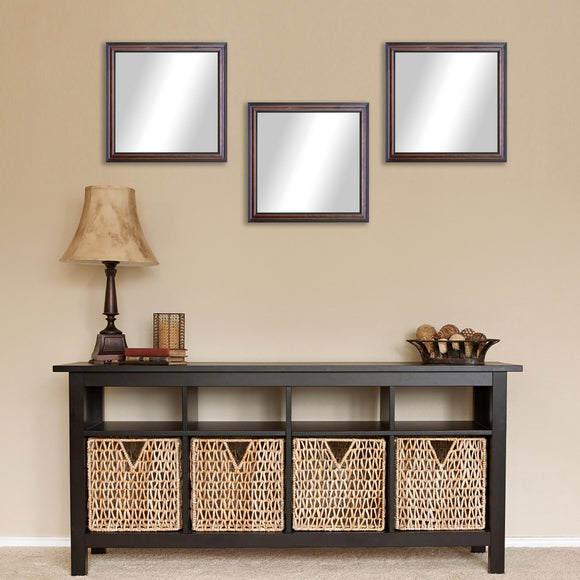 American Made Rayne American Walnut Square Wall Mirror Set - S030S.3 ~Suggested Retail~
