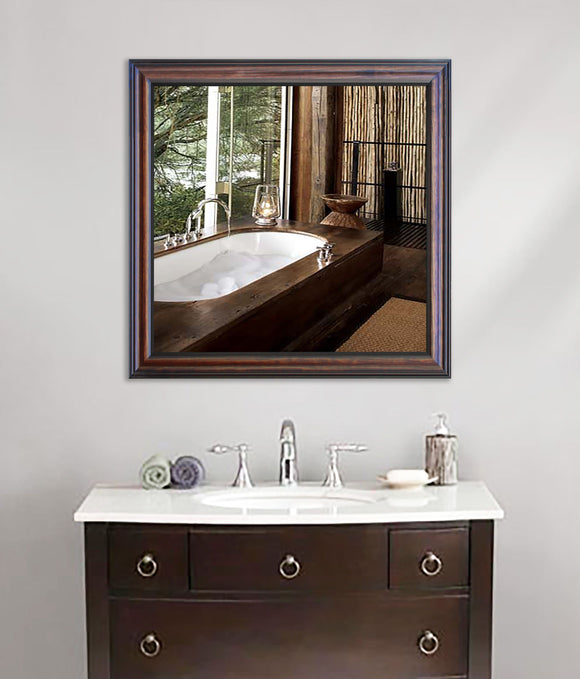 American Made Rayne American Walnut Square Wall Mirror (S030) *Suggested Retail*