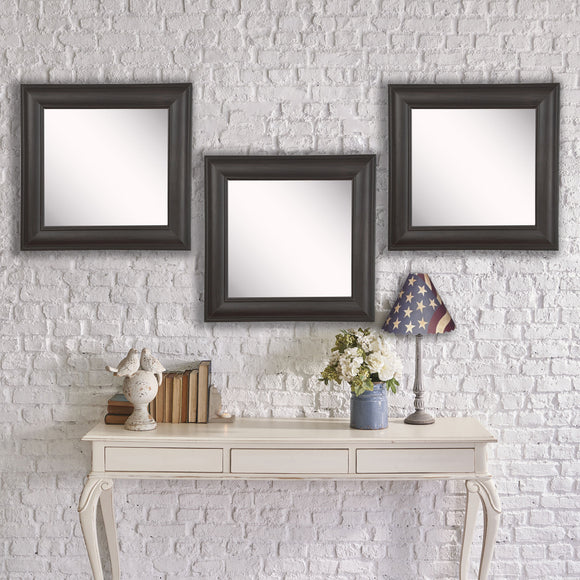Copy of American Made Rayne Brazilian Walnut Square Wall Mirror Set - S032S.3 ~Suggested Retail~