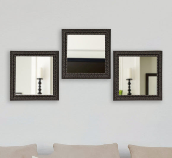 American Made Rayne Dark Embellished Square Wall Mirror (S051MS Set of 3) *Suggested Retail*