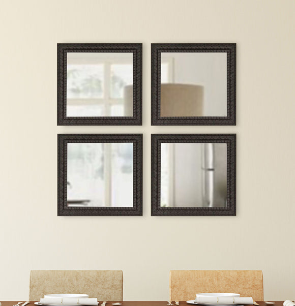 American Made Rayne Dark Embellished Square Wall Mirror (S051S Set of 4) *Suggested Retail*