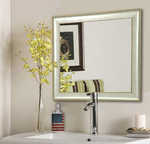 American Made Rayne Vintage Silver Square Wall Mirror (S055) *Suggested Retail*