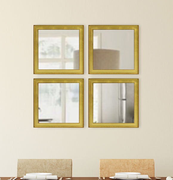 American Made Rayne Vintage Gold Square Wall Mirror (S057S Set of 4) *Suggested Retail*