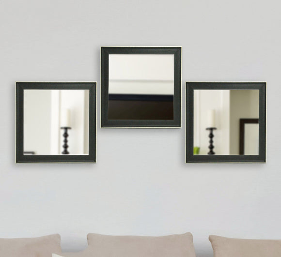 American Made Rayne Vintage Black Square Wall Mirror (S058MS Set of 3) *Suggested Retail*