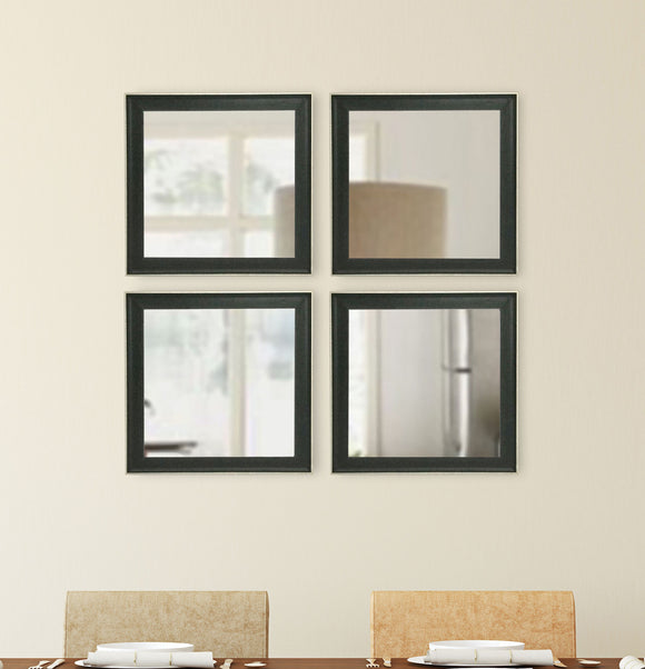 American Made Rayne Vintage Black Square Wall Mirror (S058S Set of 4) *Suggested Retail*