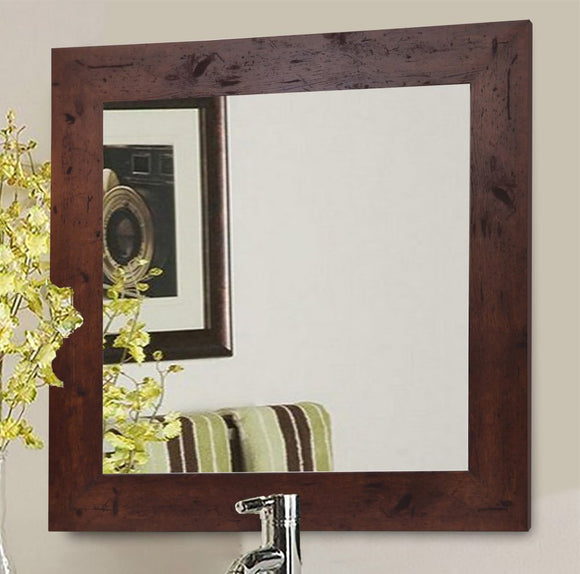 American Made Rayne Rustic Dark Walnut Square Wall Mirror (S061) *Suggested Retail*