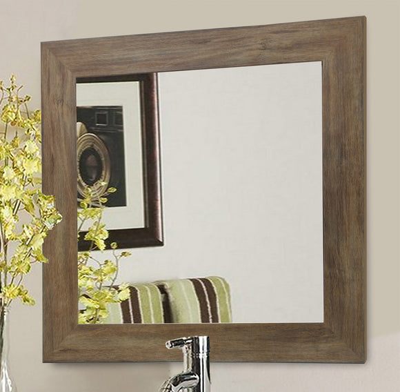 American Made Rayne Brown Barnwood Square Wall Mirror (S063) *Suggested Retail*