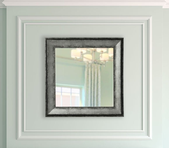 American Made Rayne Sterling Charcoal Square Mirror (S065) *Suggested Retail*