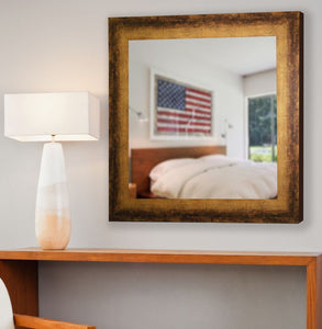 American Made Rayne Tarnished Bronze Square Mirror (S067) *Suggested Retail*