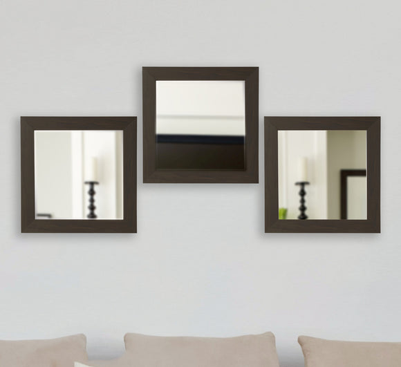 Copy of American Made Rayne Black Walnut Square Wall Mirror Sets - S068S.3 ~Suggested Retail~