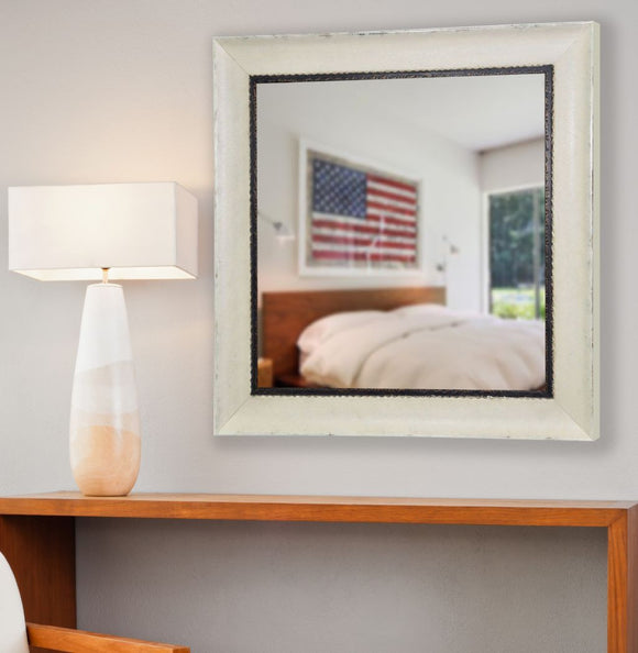 American Made Rayne Jaded Ivory Square Mirror (S073) *Suggested Retail*