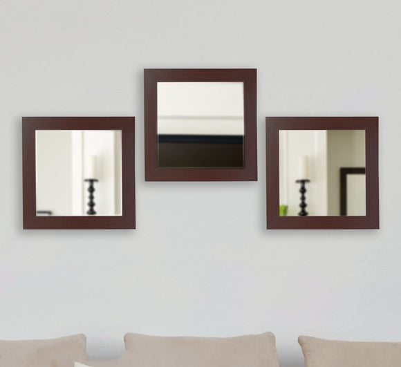 American Made Rayne Dark Mahogany Square Mirror Set - S076S.3 ~Suggested Retail~