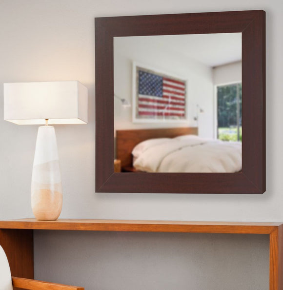 American Made Rayne Dark Mahogany Square Mirror (S076) *Suggested Retail*