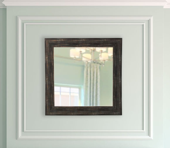 American Made Rayne Brushed Classic Brown Square Mirror - S077 ~Suggested Retail~