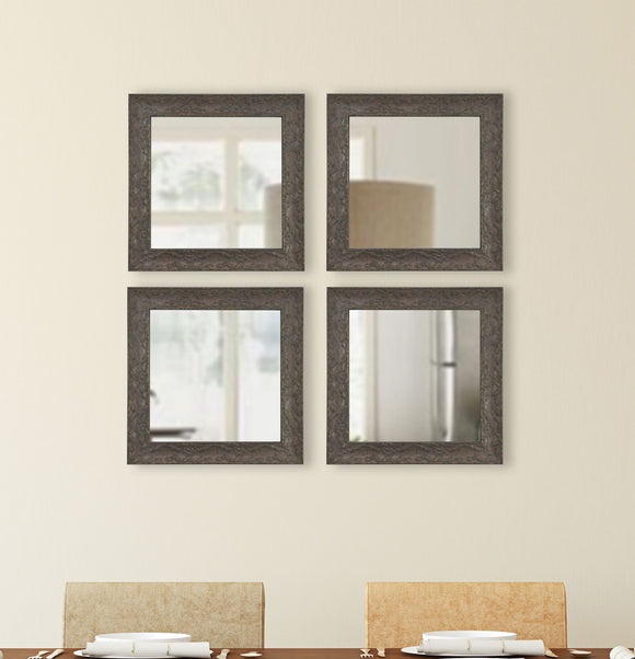 American Made Rayne McLaren Brown Square Wall Mirror (S078S Set of 4) *Suggested Retail*