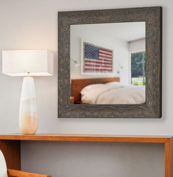 American Made Rayne Maclaren Brown Square Mirror (S078) *Suggested Retail*