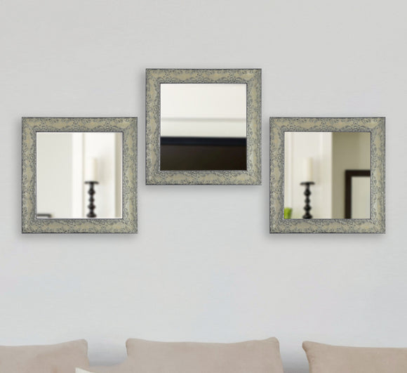 American Made Rayne McLaren Pewter Square Wall Mirror (S079MS Set of 3) *Suggested Retail*
