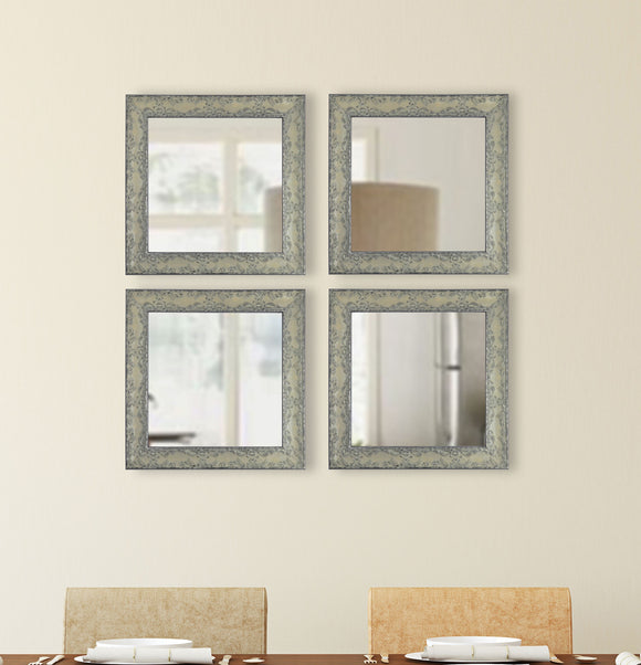 American Made Rayne McLaren Pewter Square Wall Mirror (S079S Set of 4) *Suggested Retail*