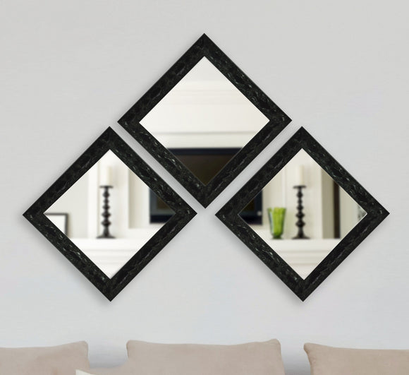 American Made Rayne Black Endicott Square Mirror, Set of 3- (S080) ~Suggested Retail~
