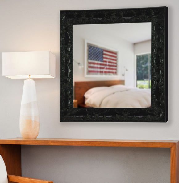 American Made Rayne Black Endicott Square Mirror (S080) *Suggested Retail*
