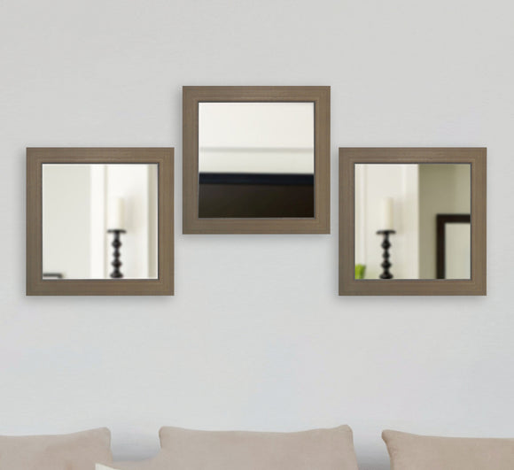 American Made Rayne Champagne Colville Square Mirror (S081MS Set of 3) *Suggested Retail*