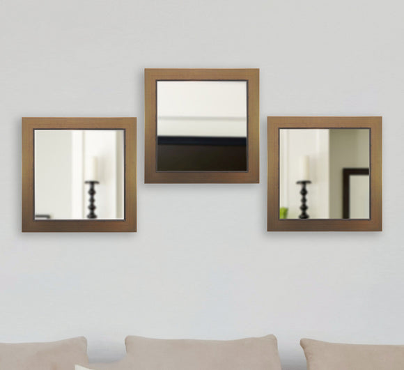 American Made Rayne Golden Lowe Square Mirror Set - S082S.4 ~Suggested Retail~