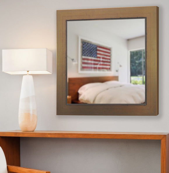 American Made Rayne Golden Lowe Square Mirror (S082) *Suggested Retail*