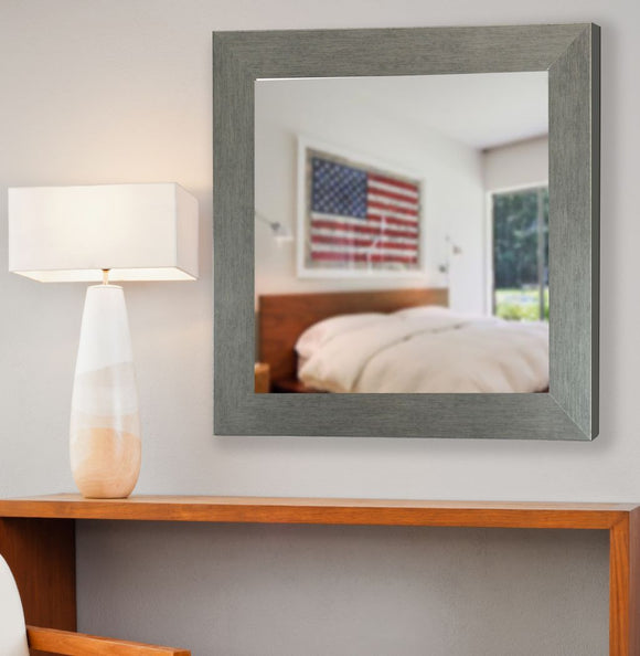 American Made Rayne Yukon Silver Square Mirror (S084) *Suggested Retail*