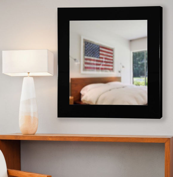 American Made Rayne Delta Black Square Mirror (S086) *Suggested Retail*