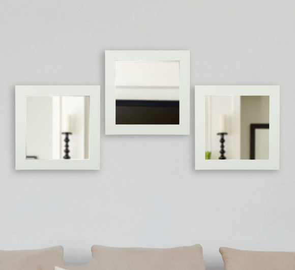 American Made Rayne Delta White Square Mirror (S087MS Set of 3) *Suggested Retail*