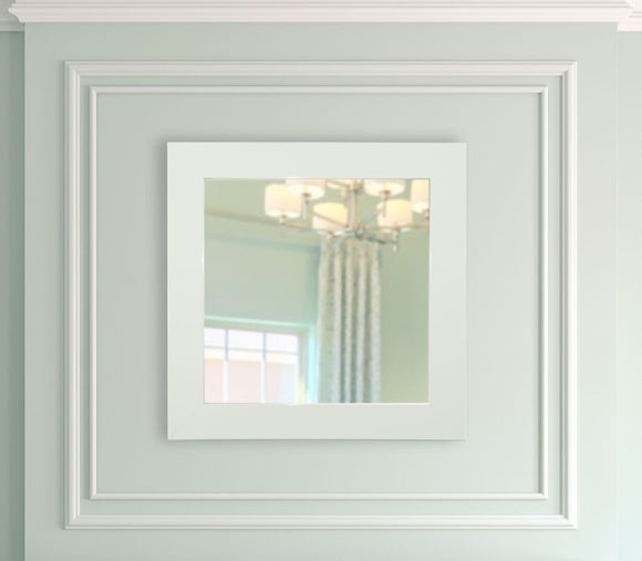 American Made Rayne Delta White Square Mirror - S087 ~Suggested Retail~