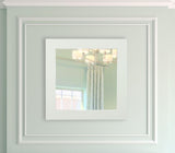 American Made Rayne Delta White Square Mirror (S087) *Suggested Retail*