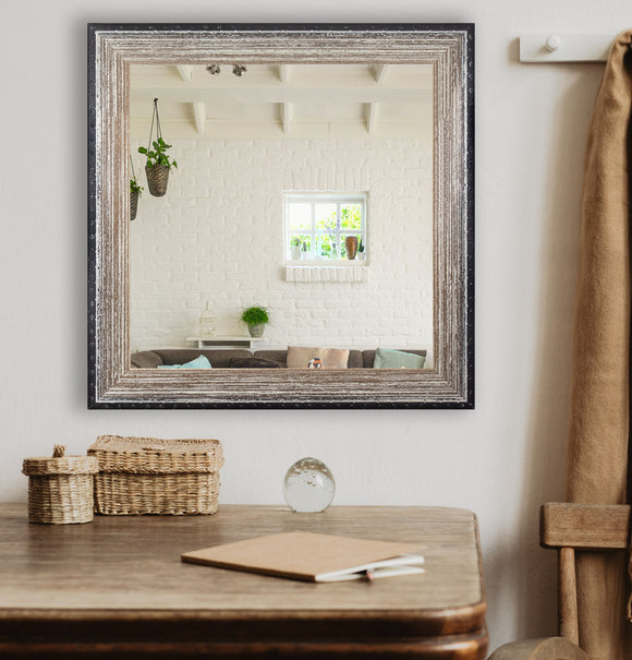 American Made Rayne Brown Brushed Square Wall Mirror (S108) *Suggested Retail*