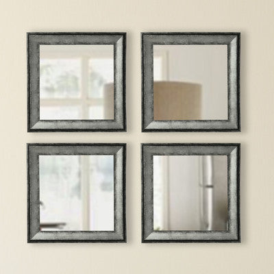 American Made Rayne Sterling Charcoal Square Mirror Sets - S065S.4 ~Suggested Retail~