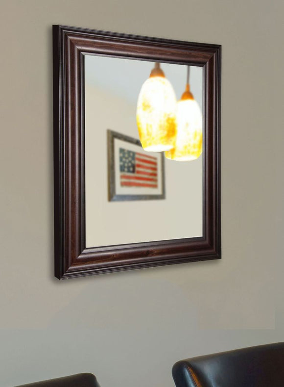 American Made Rayne American Walnut Vanity Wall Mirror - V030 ~Suggested Retail~