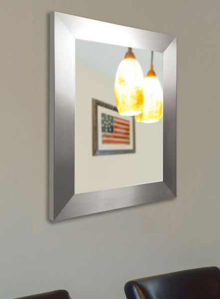 American Made Rayne Modern Stainless Silver Mirror - V003 ~Suggested Retail~