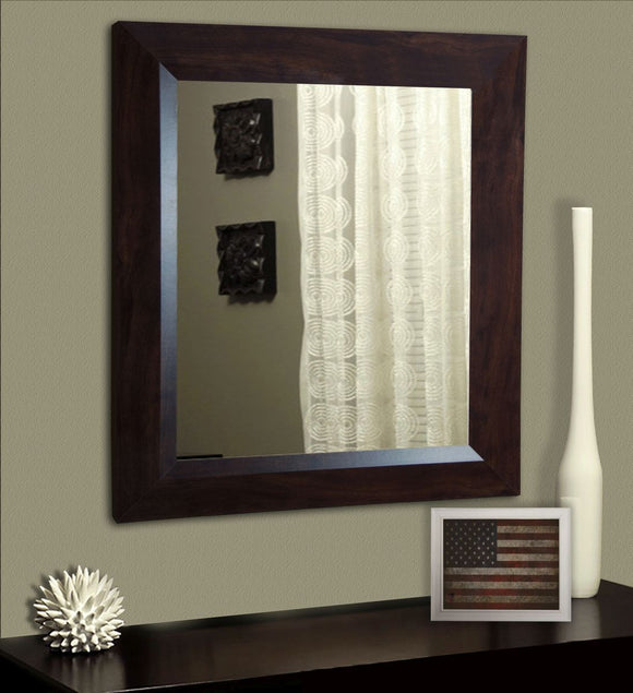 American Made Rayne Dark Walnut Non-Beveled Wall Mirror - V016 ~Suggested Retail~