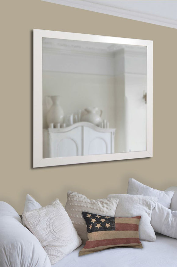 American Made Rayne Glossy White Wall Mirror - V021 ~Suggested Retail~