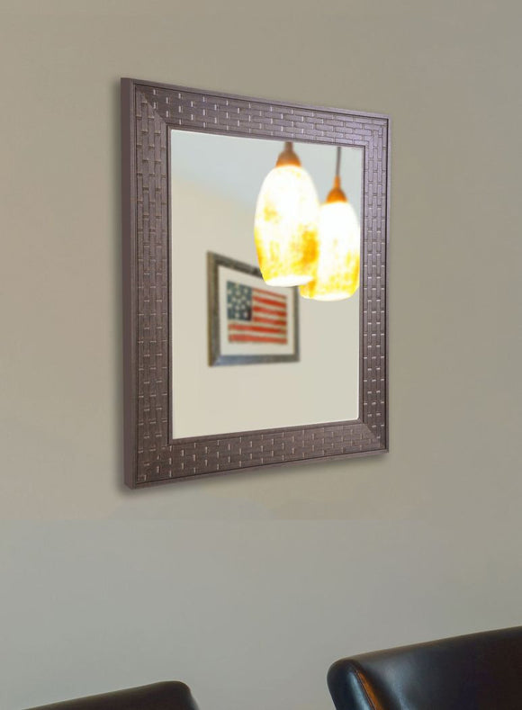 American Made Rayne Espresso Bricks Wall Mirror (V0026) *Suggested Retail*