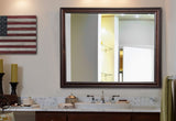 American Made Rayne American Walnut Vanity Wall Mirror (V030) *Suggested Retail*