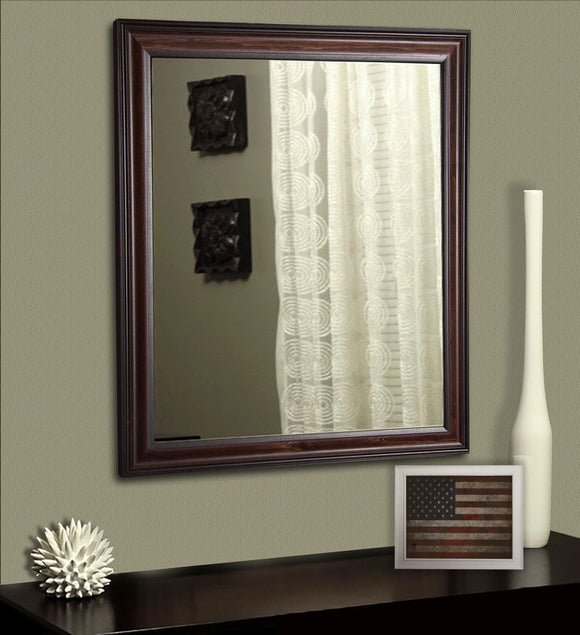 American Made Rayne American Walnut Wall Mirror (V030) *Suggested Retail*