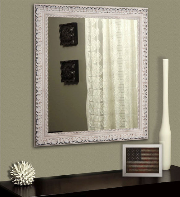 American Made Rayne French Victorian White Wall Mirror (V039) *Suggested Retail*