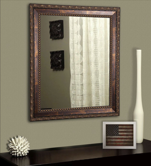 American Made Rayne Roman Copper Bronze Wall Mirror - V041~Suggested Retail~