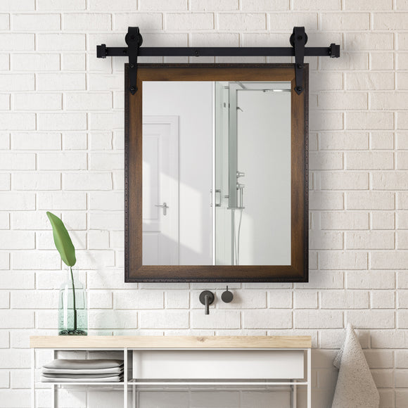 American Made Timber Estate Wall Accent Mirror with 3' Barn Door Kit (V052-3V)  *Suggested Retail*