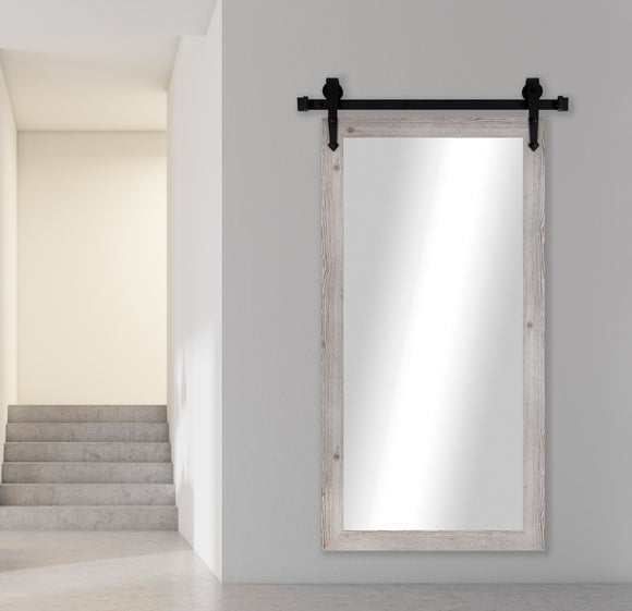 Non-Beveled Wall Mirror with Barn Door Kit (V059CVXT) *Suggested Retail*