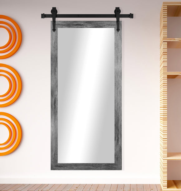 Non-Beveled Wall Mirror with Barn Door Kit (V064CVXT) *Suggested Retail*