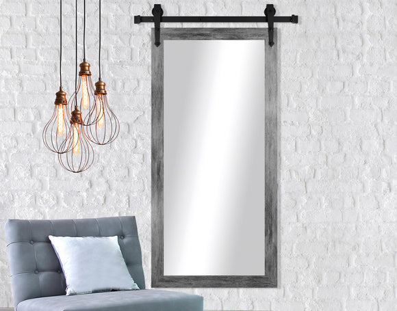 Non-Beveled Wall Mirror with Barn Door Kit (V064T) *Suggested Retail*