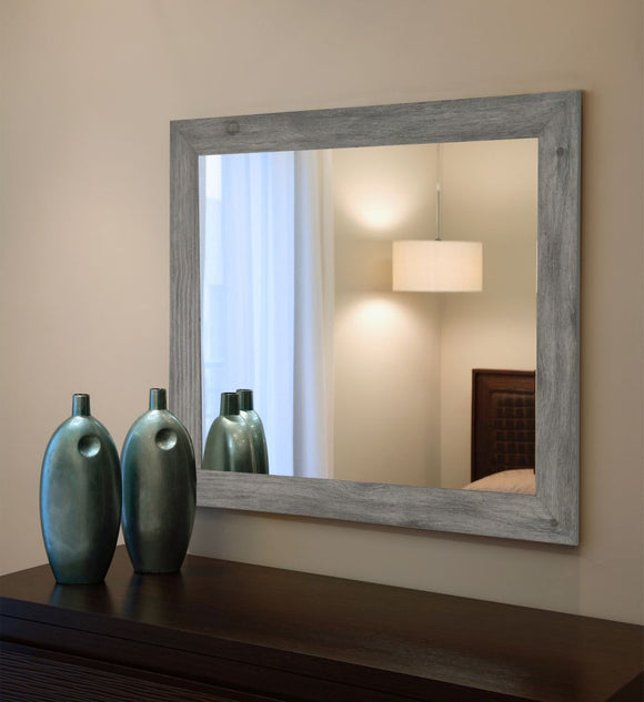 American Made Rayne Gray Barnwood Wall Mirror (V064) *Suggested Retail*